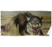Steppe wolf Poster