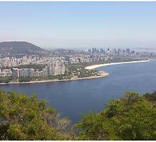 Vista da praia de Pão de Açúcar Montanha by BlancheAndPappy
