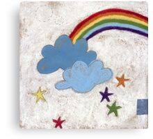 The stars and the rainbow Canvas Print