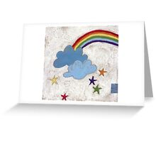 The stars and the rainbow Greeting Card