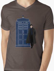 Dr. Who / Sherlock Mens V-Neck T-Shirt