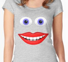 Happy Face Women's Fitted Scoop T-Shirt