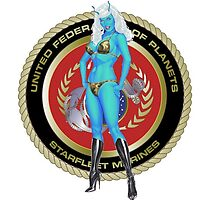 Andorian Girl - United Federation of Planets by jester6873