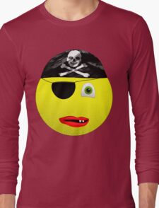Smiley Pirate Long Sleeve T-Shirt