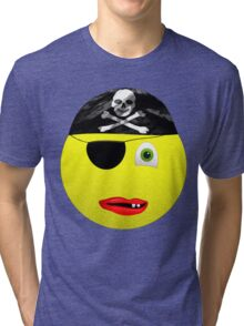 Smiley Pirate Tri-blend T-Shirt
