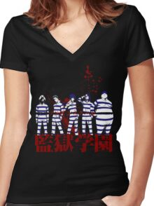 Prison School Women's Fitted V-Neck T-Shirt