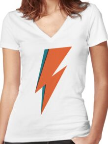 BOWIE 2  Women's Fitted V-Neck T-Shirt