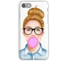 """Geek Girl "" Blonde version  iPhone Case/Skin"