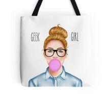 """""""Geek Girl """" Blonde version  Tote Bag"""