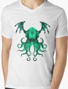 Cthulhu Vector Mens V-Neck T-Shirt