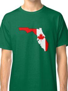 Canada flag Florida outline Classic T-Shirt