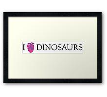 I [Columba] heart dinosaurs Framed Print