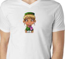 Green FA Mens V-Neck T-Shirt
