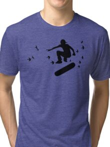 board with birds Tri-blend T-Shirt