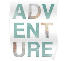 Adventure Punch Out Map Teal Poster