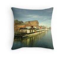 Oliver Cromwell at Gloucester Docks  Throw Pillow