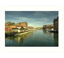 Oliver Cromwell at Gloucester Docks  Art Print