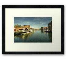 Oliver Cromwell at Gloucester Docks  Framed Print