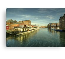 Oliver Cromwell at Gloucester Docks  Canvas Print