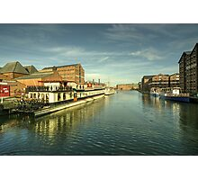 Oliver Cromwell at Gloucester Docks  Photographic Print