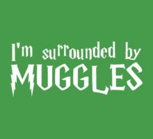 I'm Surrounded by Muggles (White) One Piece - Short Sleeve