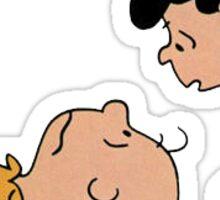 Charlie Brown & Lucy Sticker