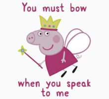 Princess Peppa Pig - Must Bow to Me Baby Tee