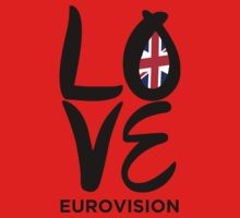 LOVE Eurovision [United Kingdom] One Piece - Short Sleeve