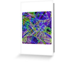 Colorful Abstract Stained Glass Greeting Card