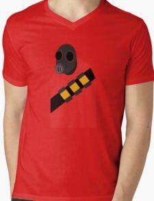 Pyro (Mini Vector) Mens V-Neck T-Shirt