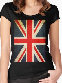 Vintage Union Jack British Flag Women's Fitted Scoop T-Shirt