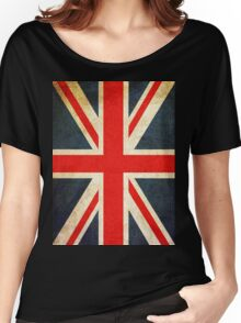 Vintage Union Jack British Flag Women's Relaxed Fit T-Shirt