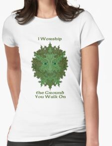 Greenman Worship Tee Womens Fitted T-Shirt