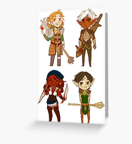 Smol Dragon Age 2 Crew  Greeting Card