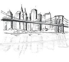 New York Sketch Photographic Print