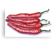 Red Hot Chilis Canvas Print