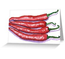 Red Hot Chilis Greeting Card