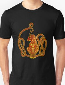 Red and Gold Celtic Cat Tee T-Shirt