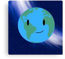 Cutie Pie Earth in Space Canvas Print