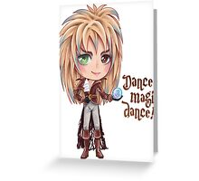 David Bowie Dance Magic Dance Labyrinth Chibi Greeting Card