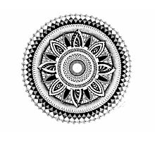 Peace and Love Mandala Photographic Print