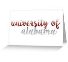 University of Alabama Greeting Card