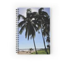 Cuba - Peninsula de Zapata - coconut trees Spiral Notebook