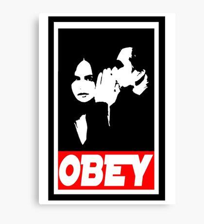 obey jj Canvas Print