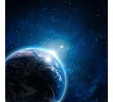 Earth Galaxy Photographic Print