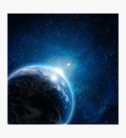 Earth Galaxy Photographic Print