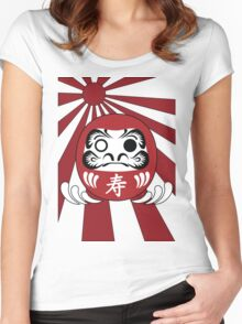 Daruma, Minimalist Style Women's Fitted Scoop T-Shirt