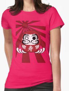 Daruma, Minimalist Style Womens Fitted T-Shirt