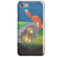 Fox and the Hound iPhone Case/Skin