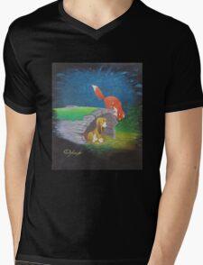 Fox and the Hound Mens V-Neck T-Shirt